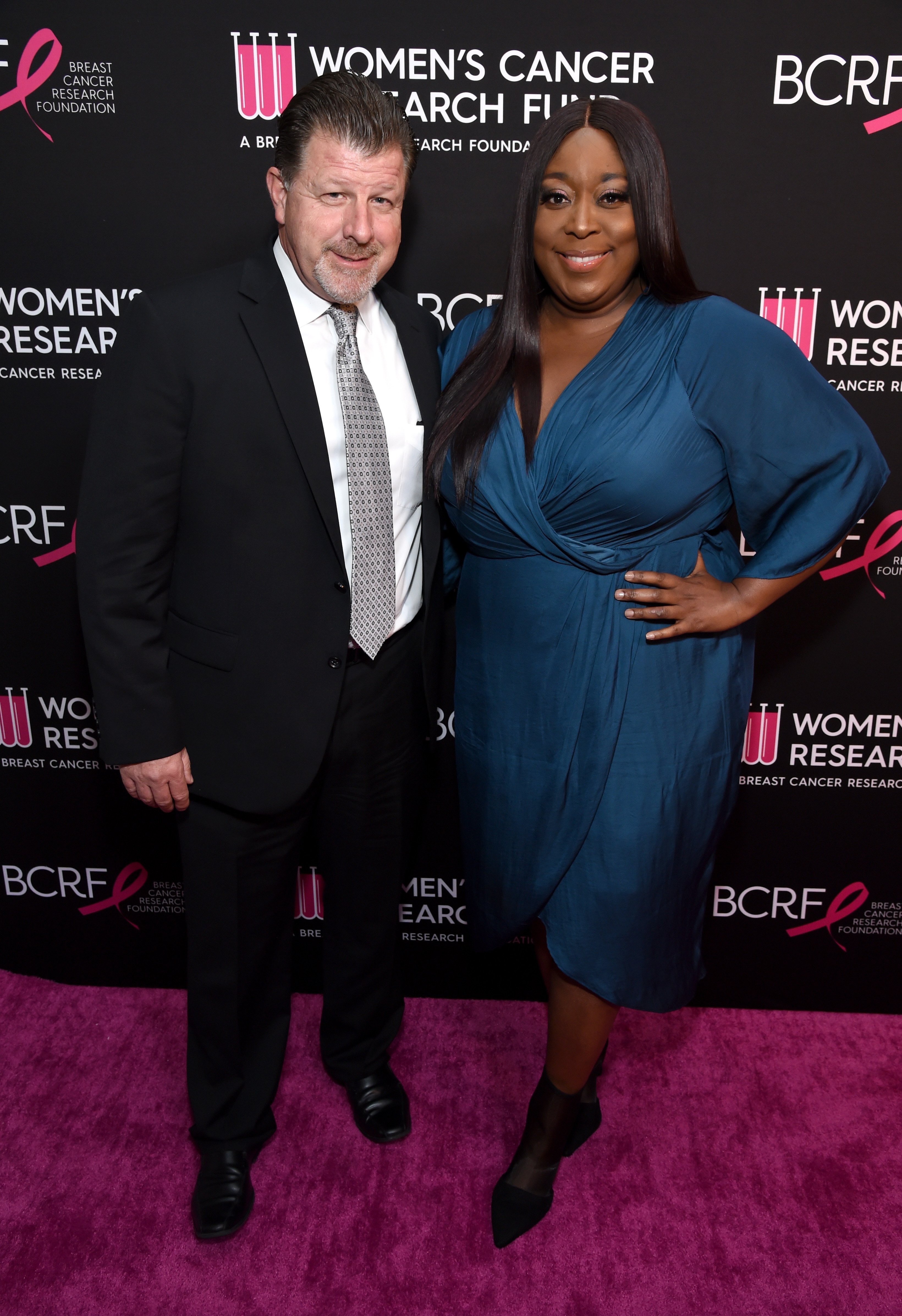 "Loni Love & James Welsh at WCRF's ""An Unforgettable Evening"" on Feb. 28, 2019 in Beverly Hills, California 
