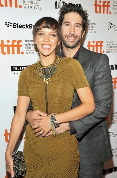 "Photographer Zoe Buckman and director David Schwimmer attend the ""Trust"" Premiere held at Roy Thomson Hall during the 35th Toronto International Film Festival on September 10, 2010, in Toronto, Canada. 