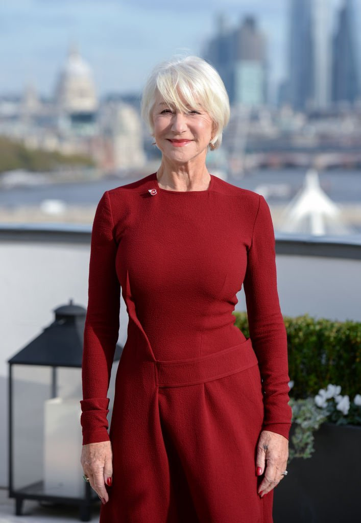 """Dame Helen Mirren attends """"The Good Liar"""" photocall at The Corinthia Hotel. 