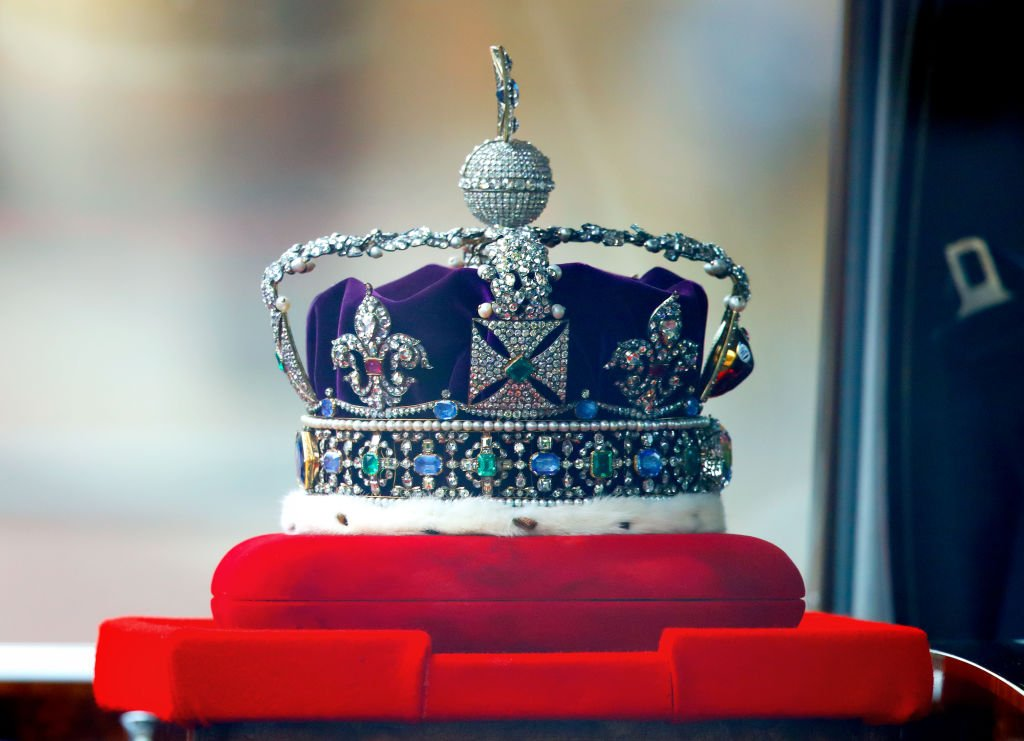 The Imperial State Crown en route to the Houses of Parliament, May 2021   Source: Getty Images