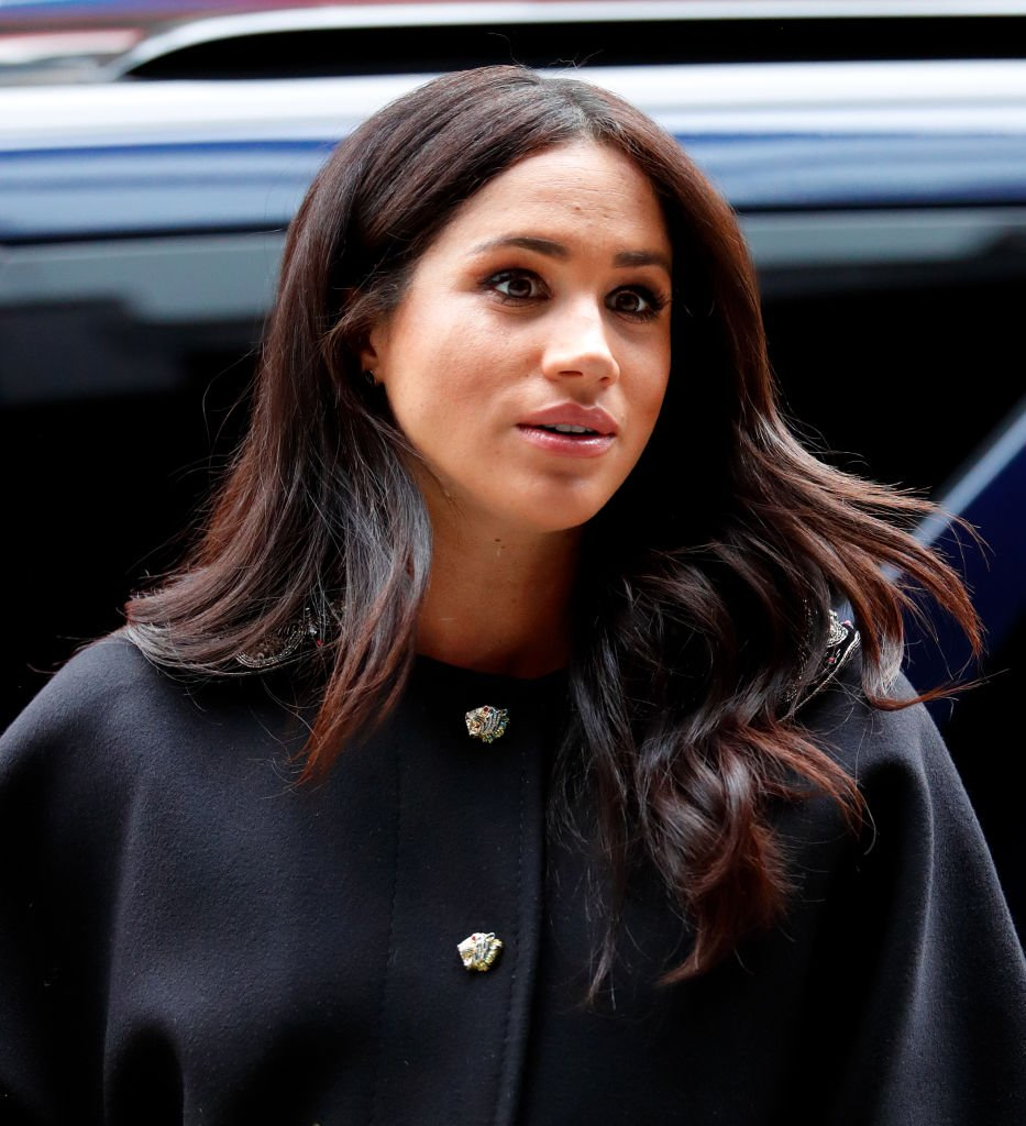Meghan Markle visiting the New Zealand House in March 2019 to sign a book of condolence in behalf of the Royal Family following the terror attack in a mosque in Christchurch on March 19, 2019. | Source: Getty Images