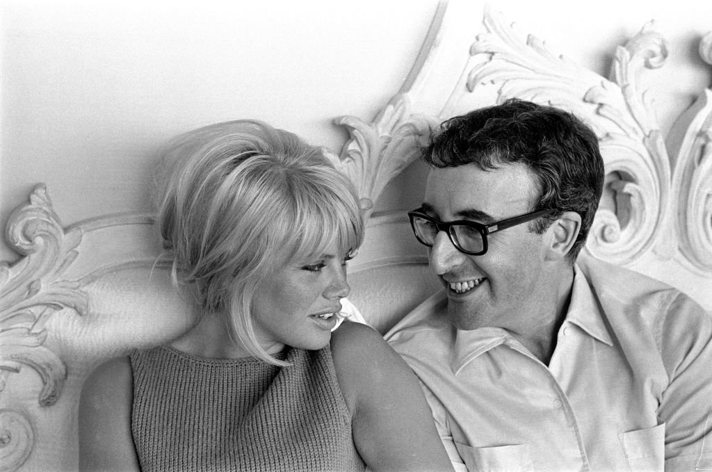 Peter Sellers and Britt Ekland at home spending time together on May 12, 1964.   Photo: Getty images