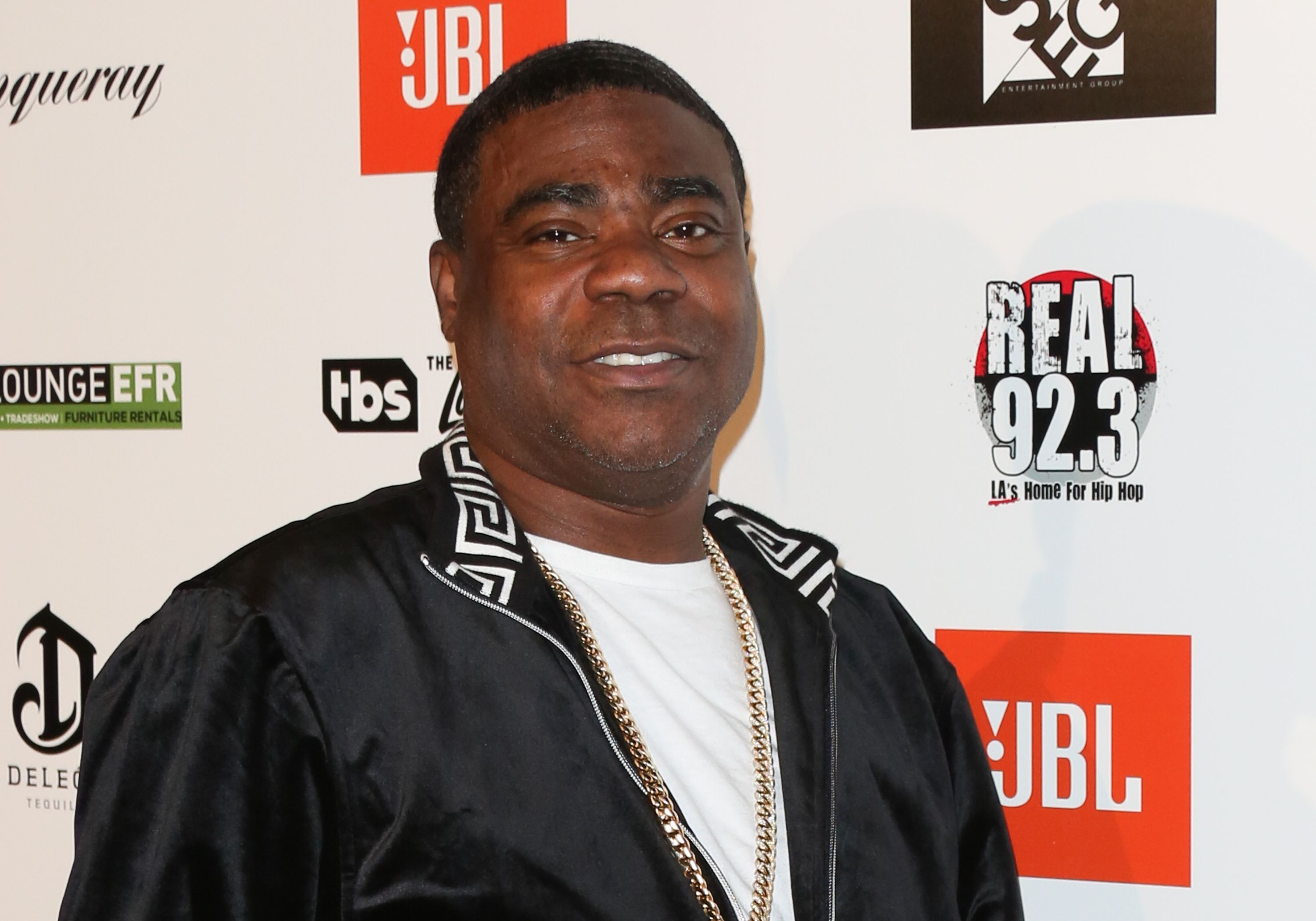 "Tracy Morgan at the Kenny ""The Jet"" Smith's annual All-Star bash at Paramount Studios on February 16, 2018 in Hollywood, California 