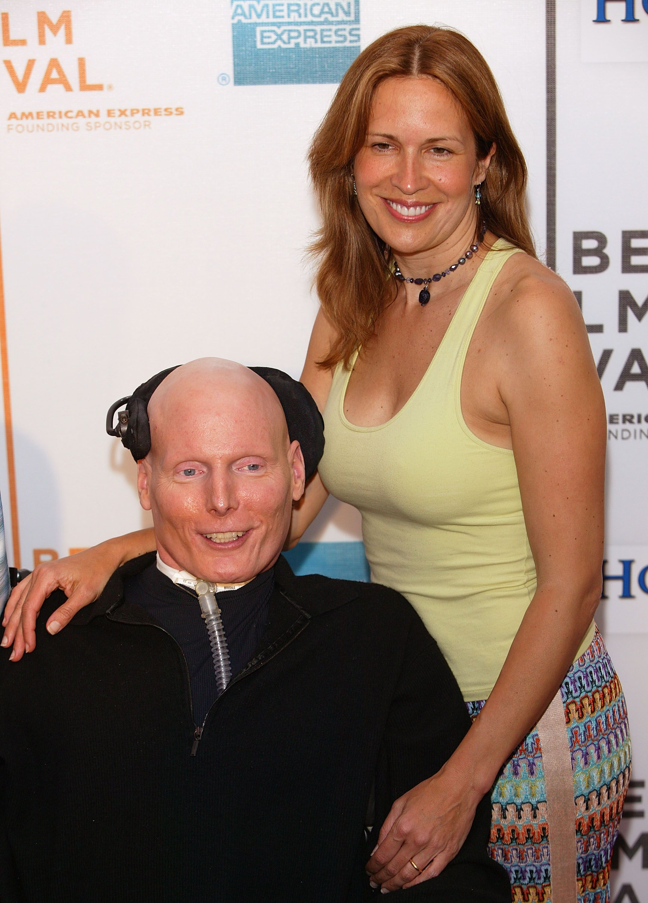 """Christopher Reeve and Dana Reeve at the screening of """"House Of D"""" on May 7, 2004 in New York City 