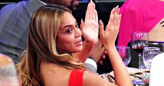Beyoncé Flaunts Her Figure in a Sheer Pink Outfit with a Golden Corset in Photos