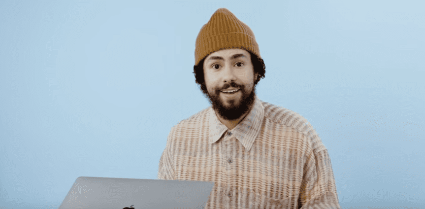 Photo of Ramy Youssef  during an episode of Actually Me | Photo: Youtube / GQ