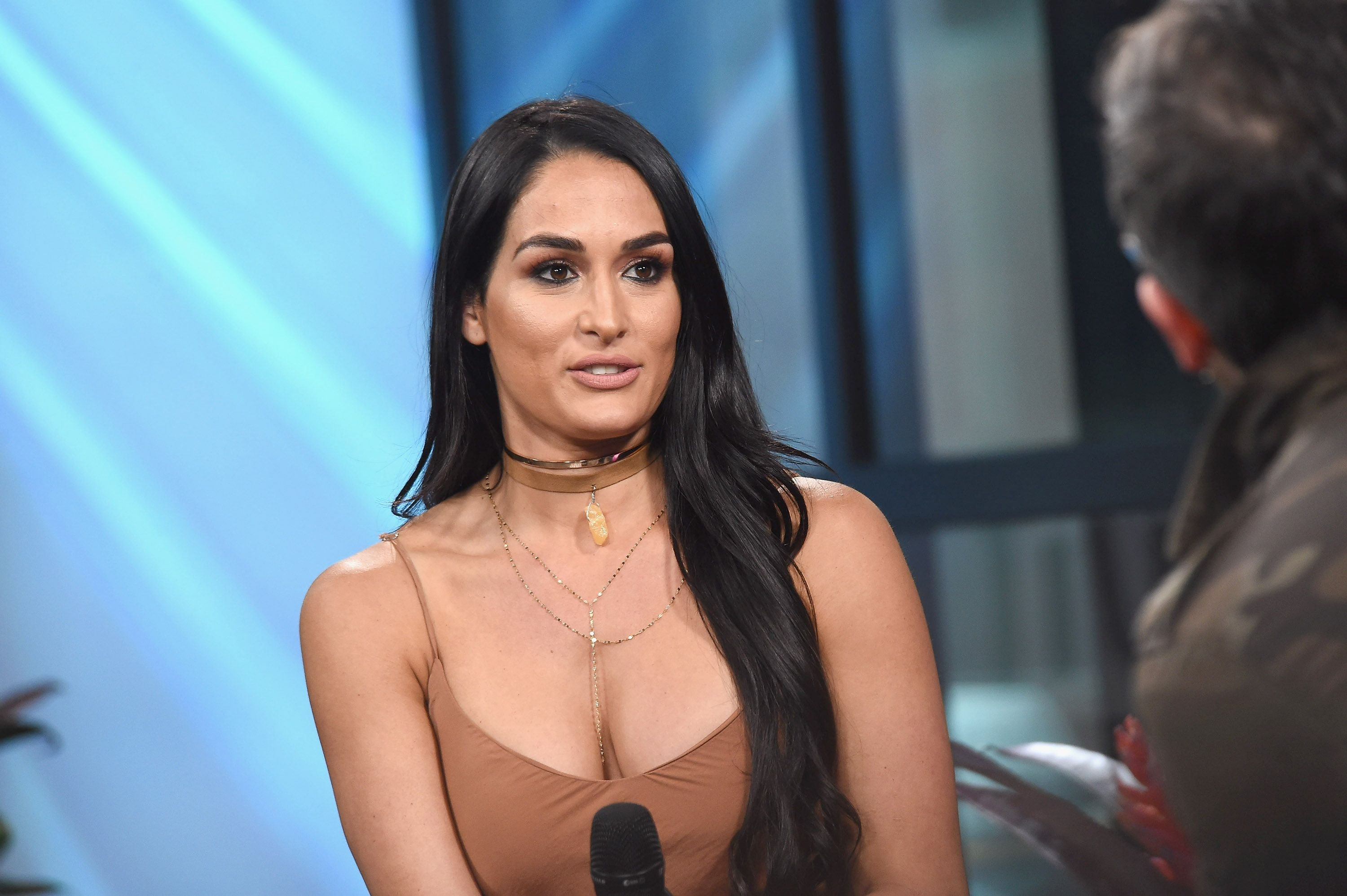 """Nikki Bella atthe Build Series to discuss the reality series """"Total Divas""""at Build Studio on April 5, 2017, in New York City 