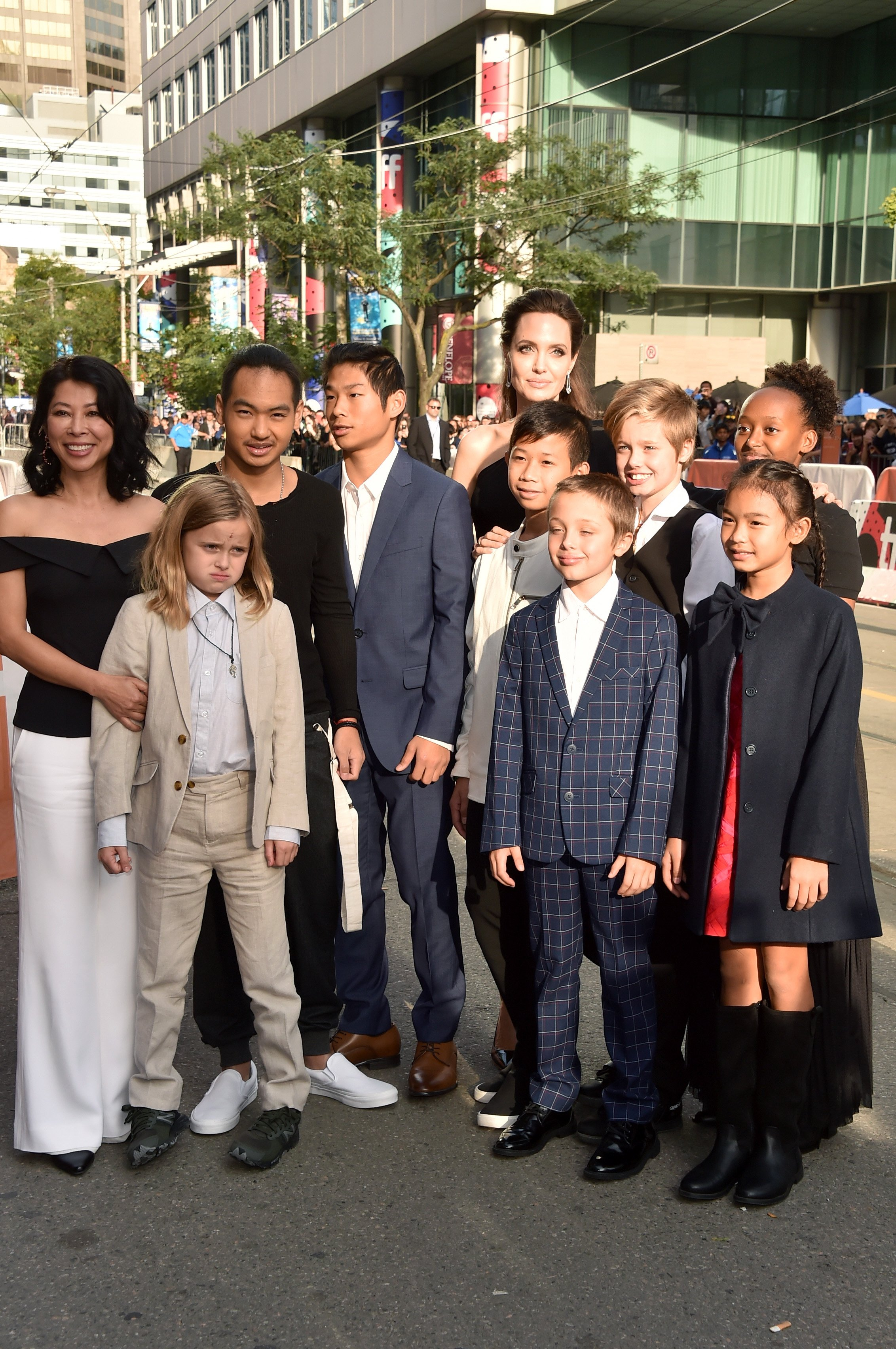 Angelina Jolie and her children at the 2017 Toronto International Film Festival in Toronto, Canada   Source: Getty Images