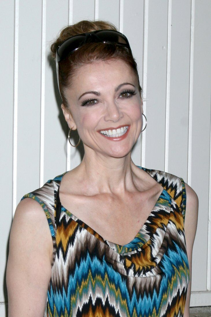 Emma Samms arrives at the 2013 General Hospital Fan Club Luncheon at the Sportsman's Lodge | Shutterstock