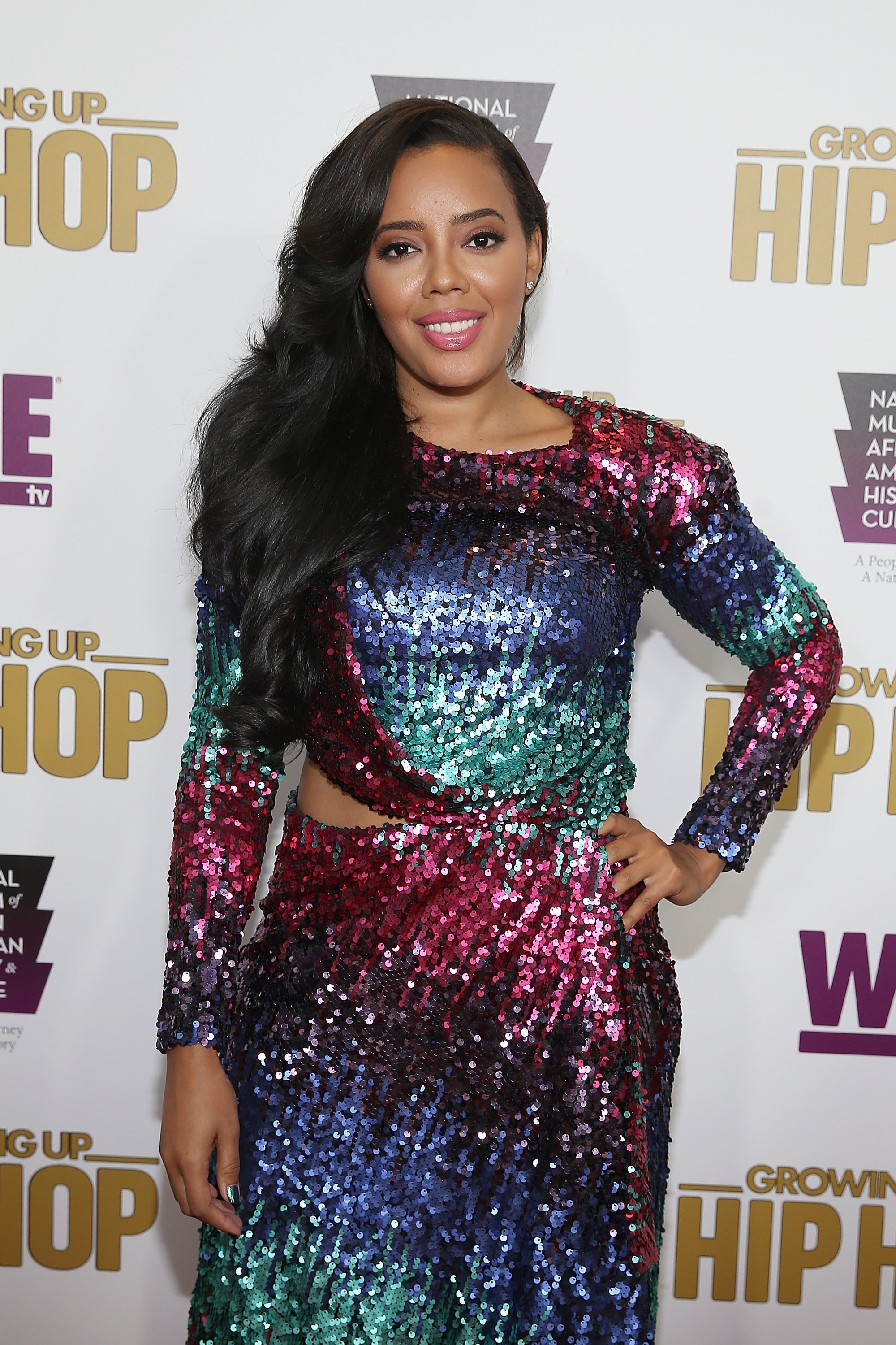 "Angela Simmons at the celebration of the third season of ""Growing Up Hip Hop"" in July 2017. 