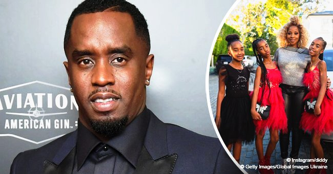 Diddy shares picture of Mary J. Blige and his 3 daughters on Kim Porter's 48th birthday