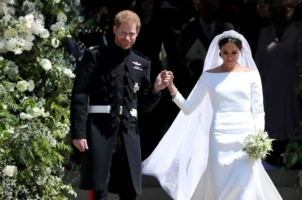 Prince Harry and Meghan Markle leave St George's Chapel in Windsor Castle after their wedding. | Photo: Getty Images