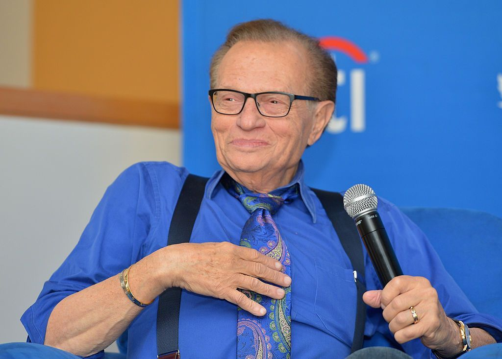 Larry King at a private luncheon hosted by The National Radio Hall of Fame on September 13, 2013   Photo: Getty Images