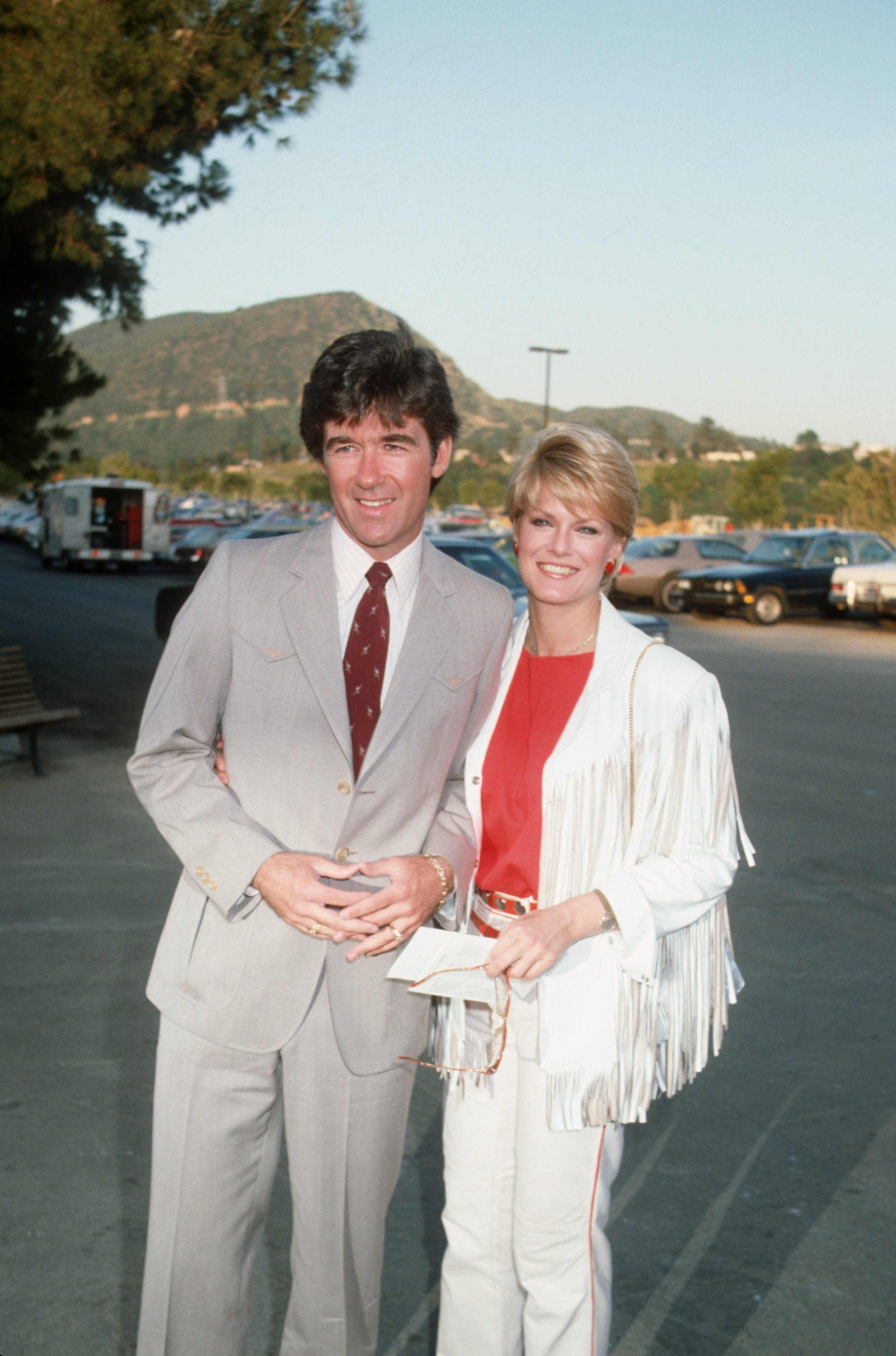 Alan Thicke Gloria Loring attending 'Share Boomtown Party, May 1983 | Source: Getty Images
