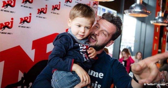 Axel, 3 ans, infirme moteur cérébral a passé un moment émouvant avec son idole, Claudio Capéo