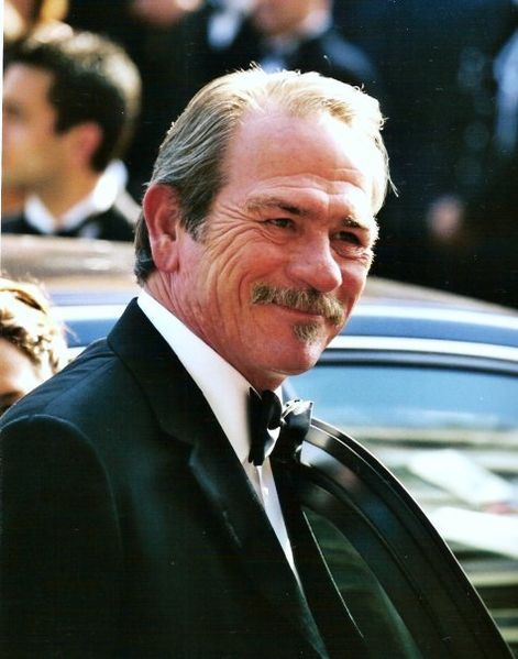 Tommy Lee Jones at the Cannes Film Festival.   Source: Wikimedia Commons