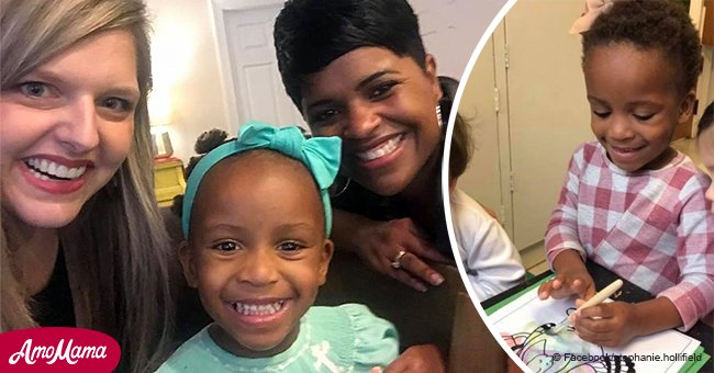Adoptive mom begs for help with her daughter's hair and gets a sweet response from a stranger
