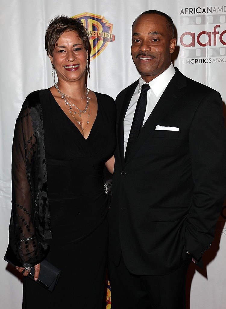 Gabrielle Bullock and actor Rocky Carroll attend African-American Film Critic's Association awards at AAFCA Clubhouse on January 8, 2012 | Photo: GettyImages