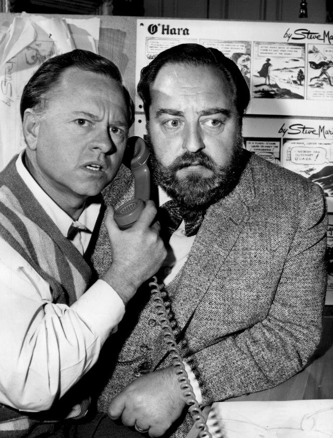 Photo of Sebastian Cabot with guest star Mickey Rooney from the television program Checkmate | Photo: Wikimedia Commons