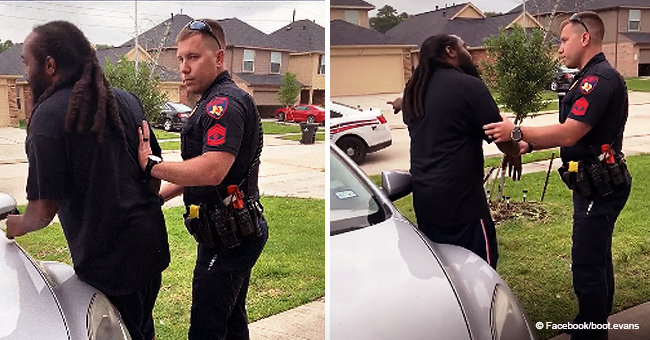 White Officer Tries to Arrest Black Man in His Own Yard Because He Looks like a Thief (Video)