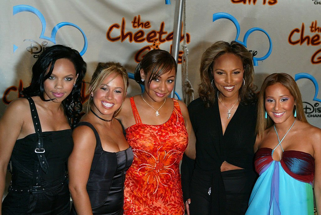 """Kiely Williams, Adrienne Bailon, Raven, Lynn Whitfield and Naturi Naughton attend the premiere of Disney Channels """"The Cheetah Girls."""" 