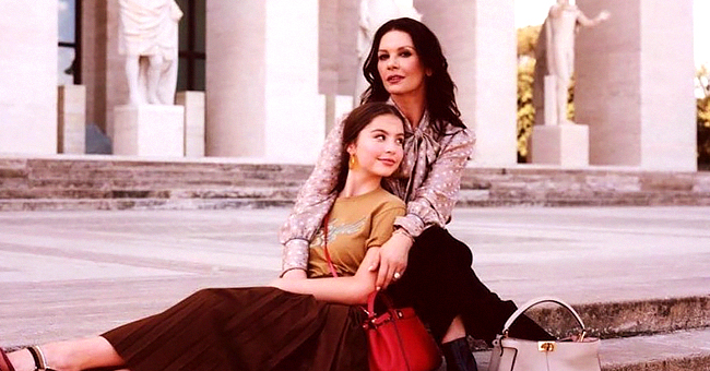 Michael Douglas Proudly Shares Photo & Video of Wife Catherine Zeta-Jones & Daughter Carys' Fendi Ad Campaign
