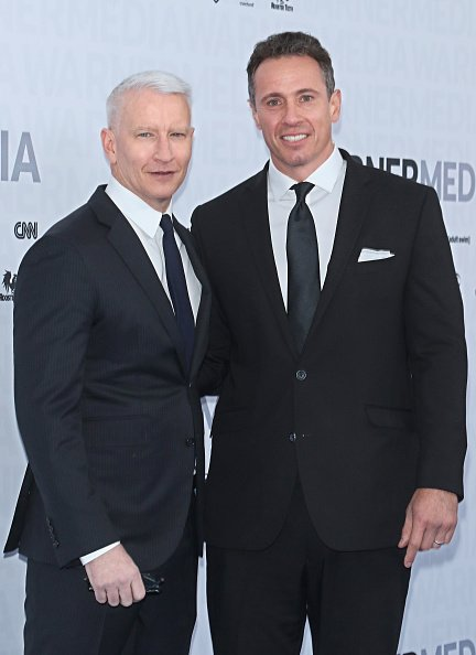 Anderson Cooper and Chris Cuomo at One Penn Plaza on May 15, 2019 in New York City. | Photo: Getty Images