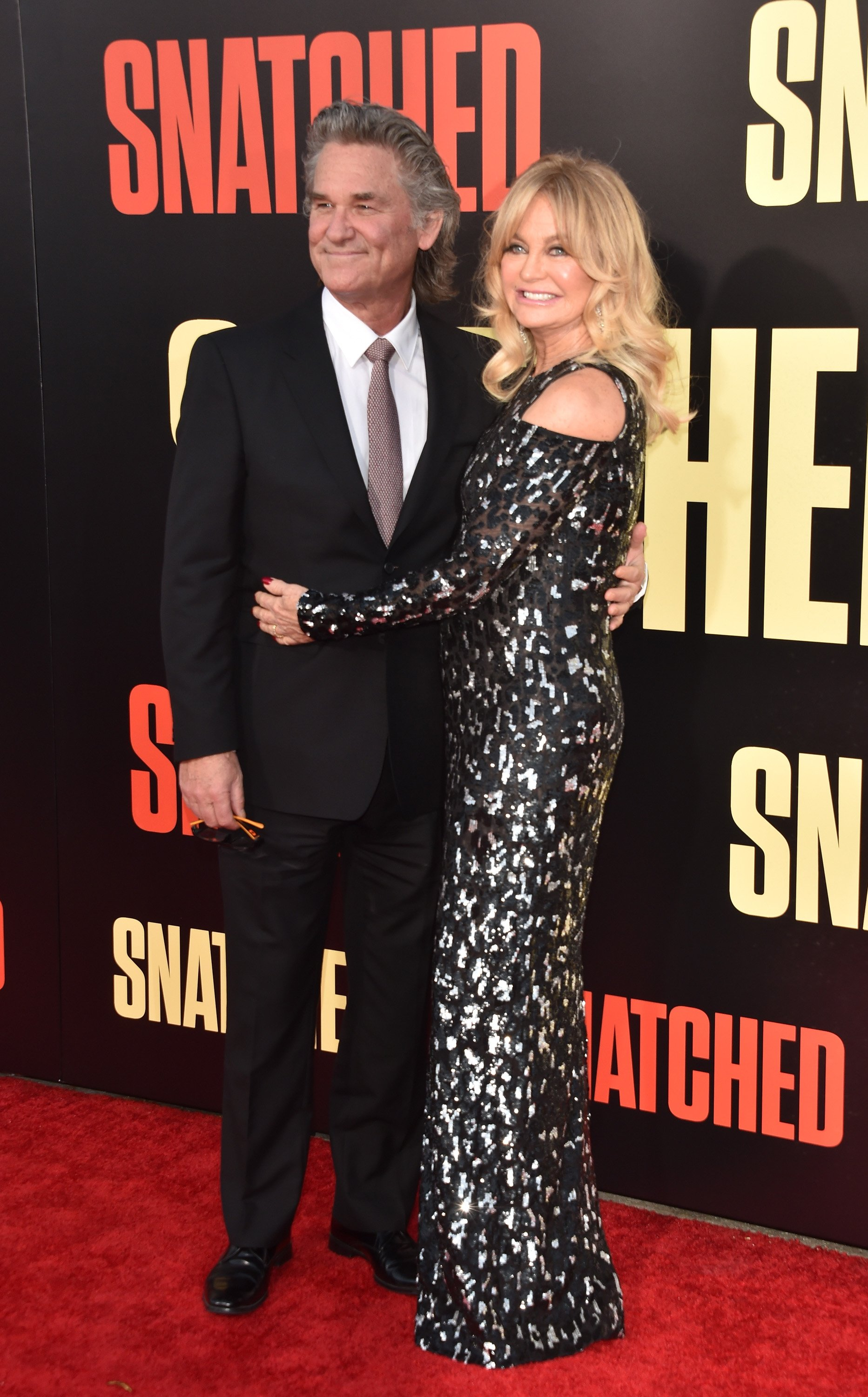 "Kurt Russell and Goldie Hawn attend the premiere of ""Snatched"" in Westwood, California on May 10, 2017 