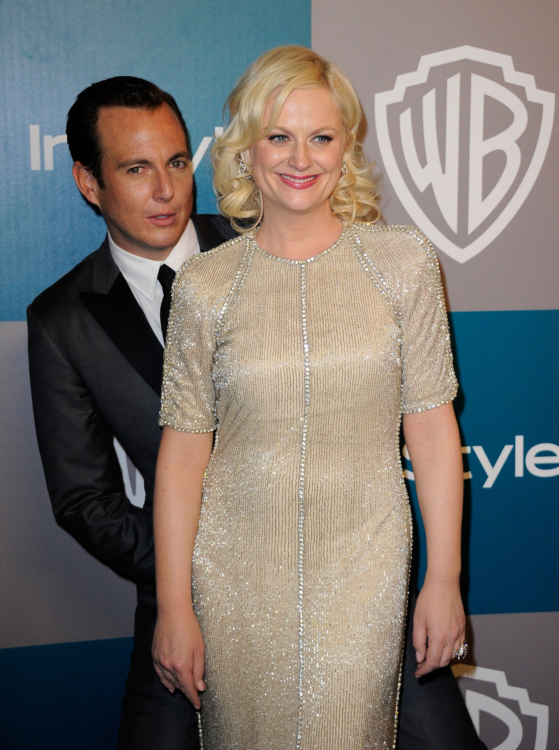 Amy Poehler and Will Arnett arrive at 13th Annual Warner Bros. And InStyle Golden Globe Awards After Party at The Beverly Hilton hotel on January 15, 2012 | Photo: GettyImages