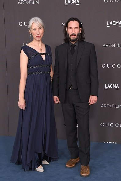 Alexandra Grant and Keanu Reeves attend the 2019 LACMA 2019 Art + Film Gala Presented By Gucci at LACMA on November 02, 2019 in Los Angeles, California | Photo: Getty Images