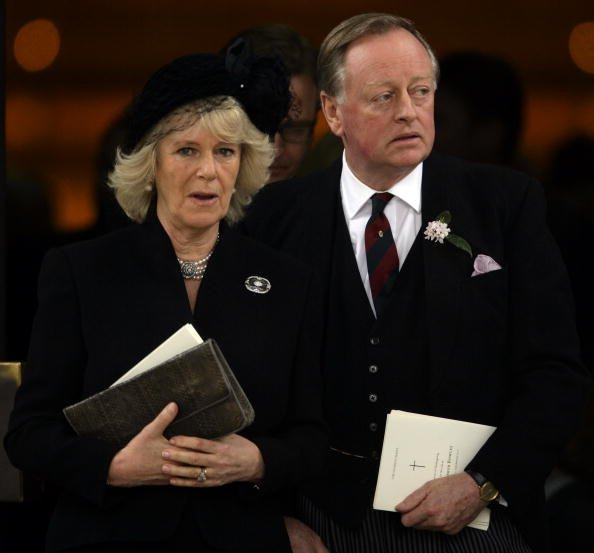 Camilla Duchess of Cornwall and Andrew Parker Bowles at the Guards Chapel, Wellington Barracks on March 25, 2010 in London, England. | Photo: Getty Images
