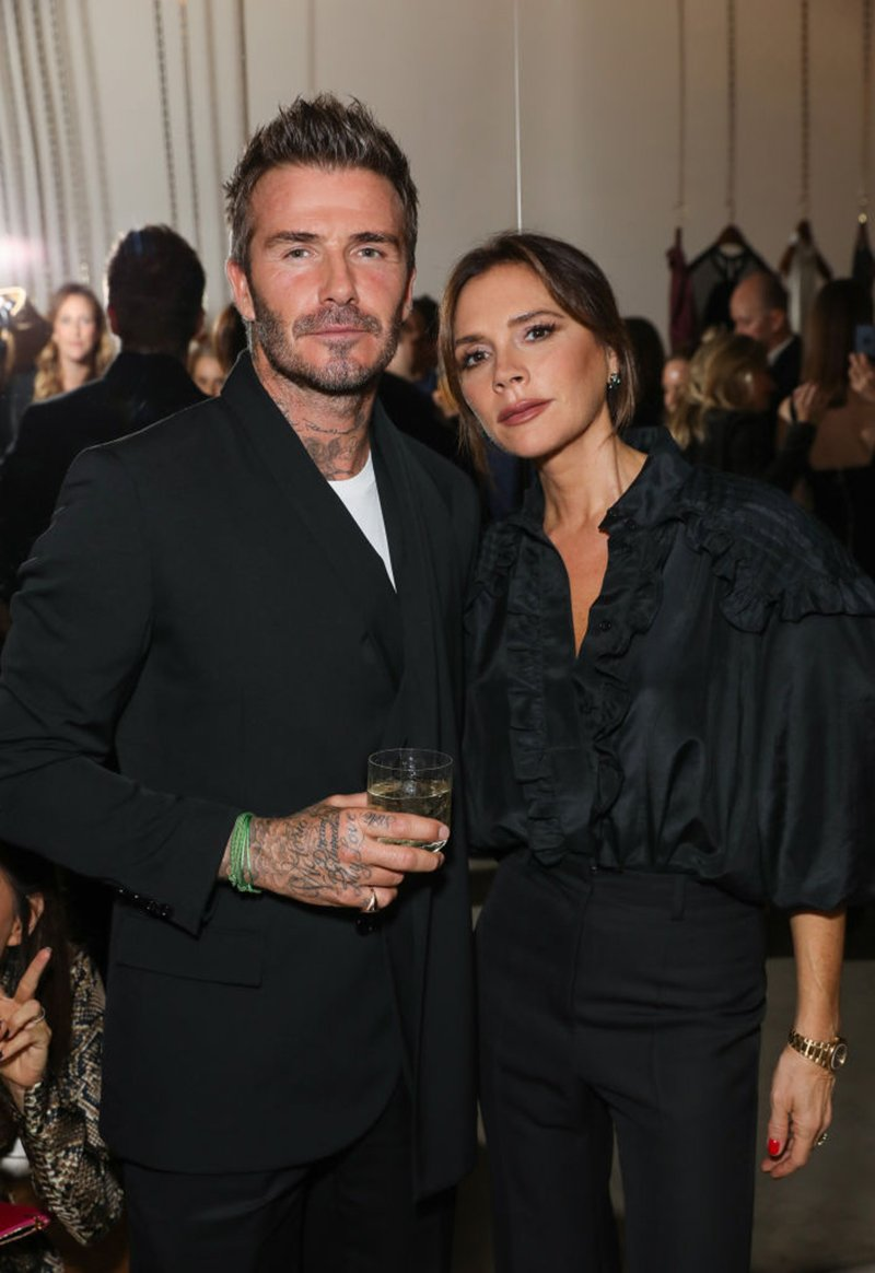 David and Victoria Beckham attending Victoria Beckham and Sotheby's celebration of Andy Warhol with Don Julio 1942 at her Dover Street store, in London, England, in September 2019.I Photo: Getty Images.