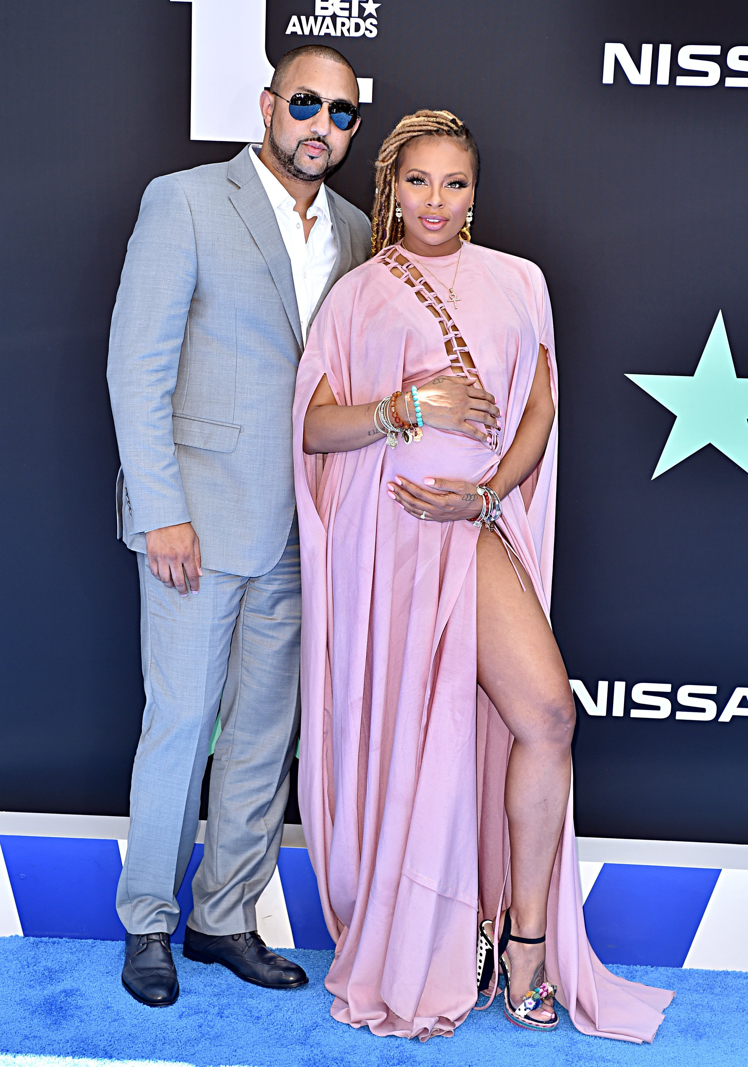 Eva Marcille & husband, Michael Sterling at the BET Awards on June 23, 2019 in California | Photo: Getty Images