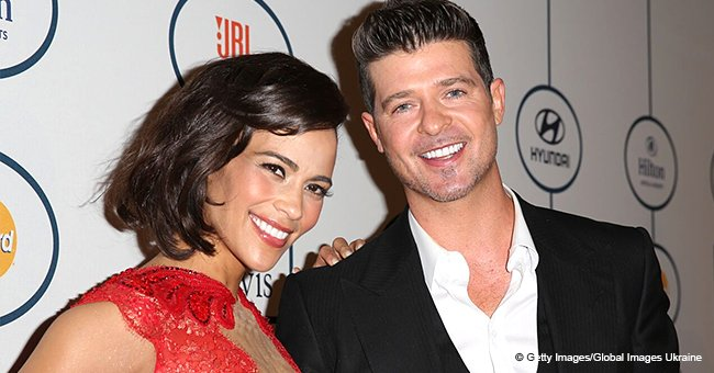 Paula Patton's Ex Robin Thicke, 41, & His Fiancée, 24, Share First Photos of Their Newborn Daughter