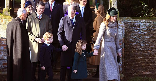 Prince George & Princess Charlotte Join William & Kate at Their First Public Christmas Walk