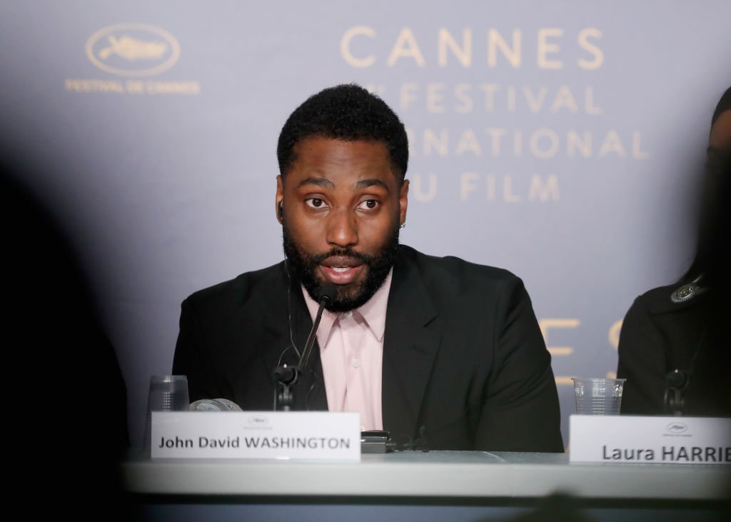 """John David Washington at the press conference for """"BlacKkKlansman"""" during the 71st annual Cannes Film Festival. 