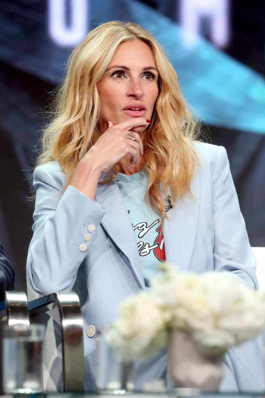 Julia Roberts of 'Homecoming' speaks onstage during the Amazon Studios portion of the Summer 2018 TCA Press Tour. | Source: Getty Images