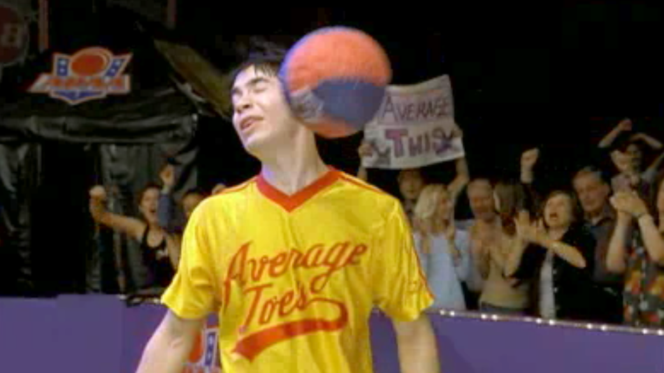 """Justin Long in """"Dodgeball."""" Image Source: Red Hour Productions. YouTube/Movieclips"""