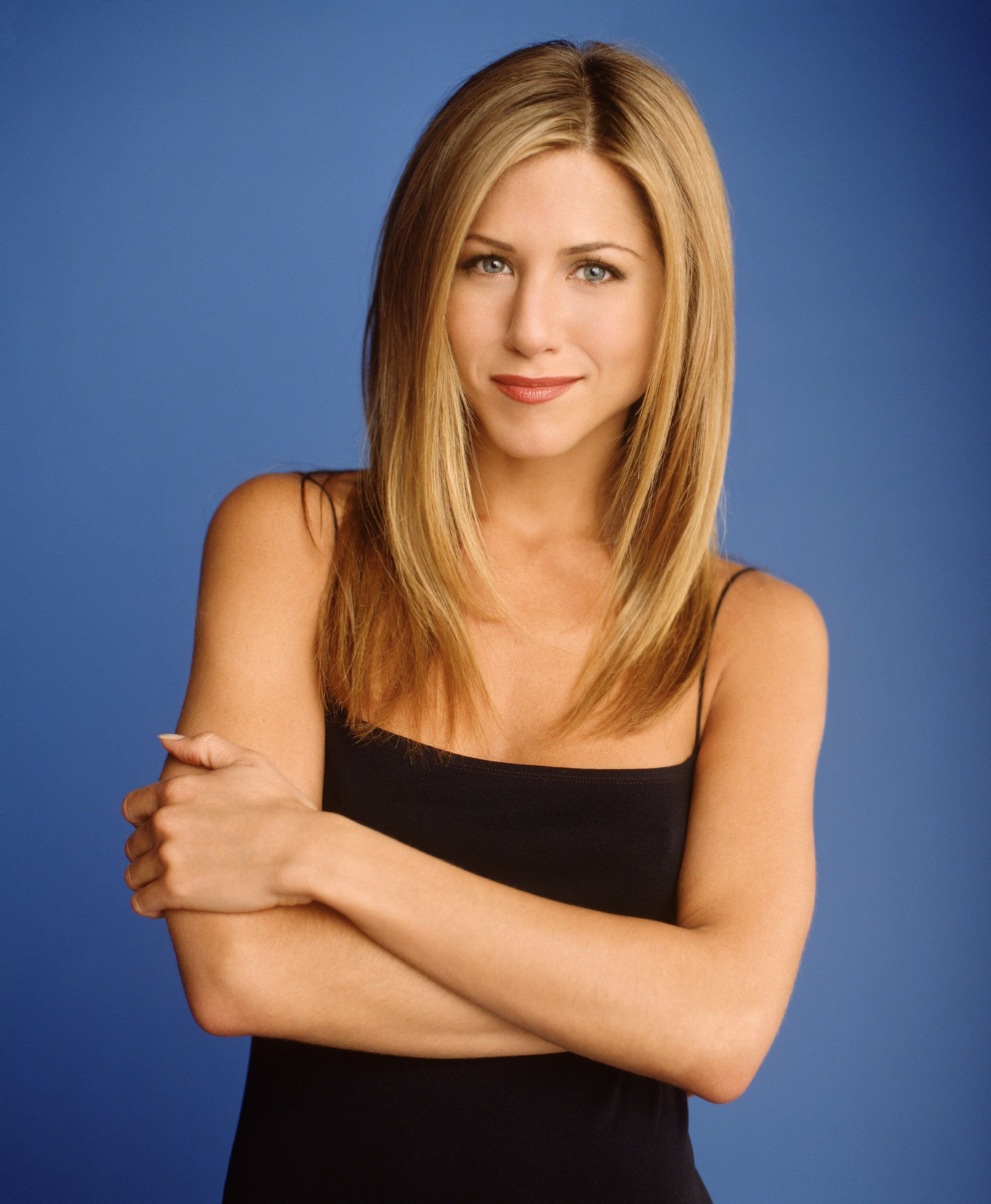 "Jennifer Aniston star as Rachel Green of NBC's comedy series ""Friends."" 