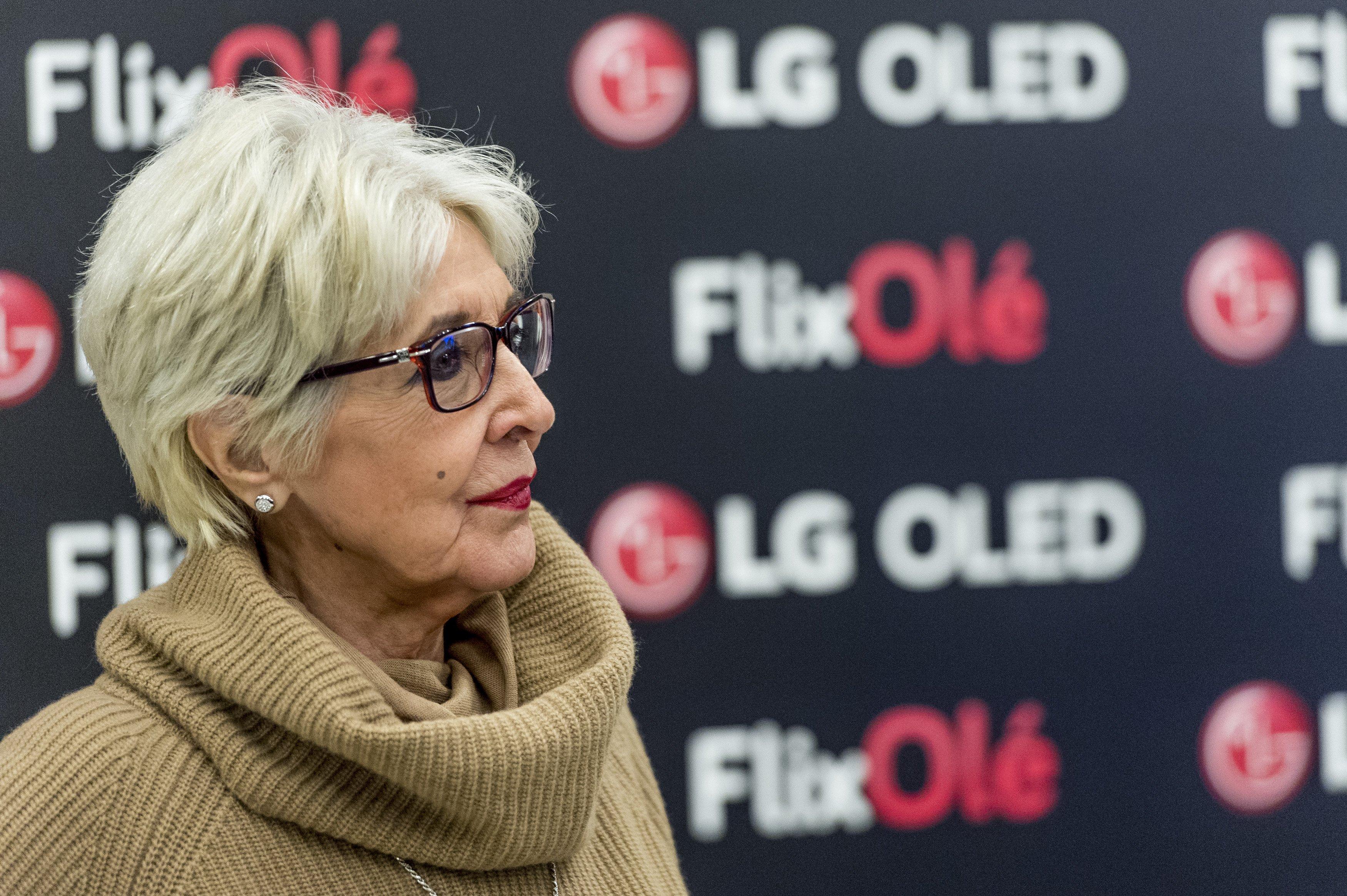 Concha Velasco en la presentación de FlixOlé en la Real Academia de la Lengua Española el 7 de noviembre de 2018 en Madrid, España || Fuente: Getty Images