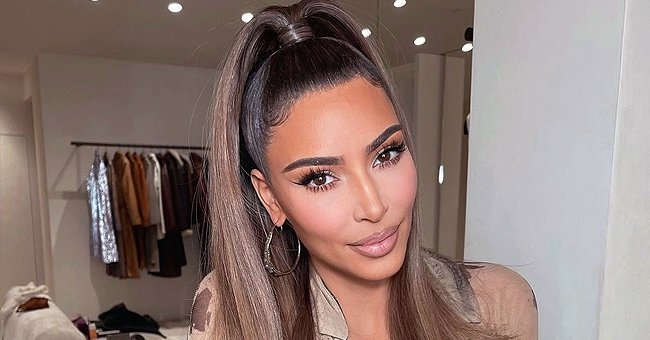 Kim Kardashian Looks Beautiful Showing off a High Ponytail & Cool Makeup — See Fan Reactions