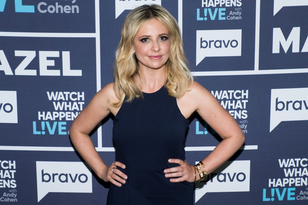 """Sarah Michelle Gellar on season 14 of """"Watch What Happens Live With Andy Cohen"""" on April 04, 2017 
