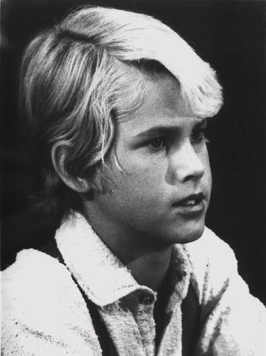"""Publicity photo of child actor Michael Landon, Jr. promoting his role on the television series """"Little House on the Prairie."""" 