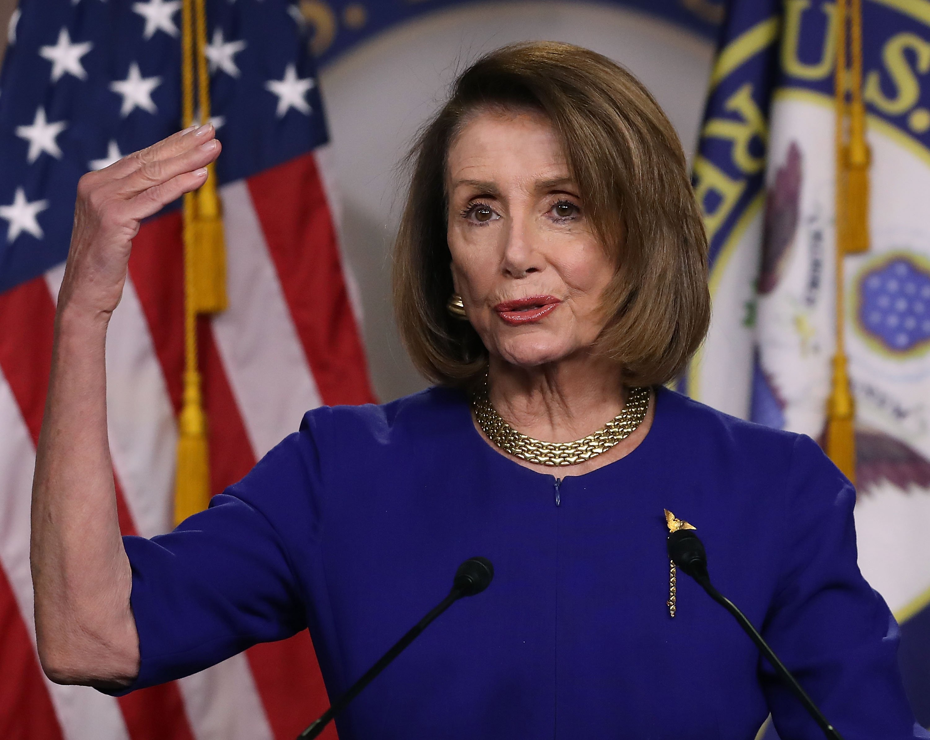 Nancy Pelosi giving a Press Conference | Photo: Getty Images