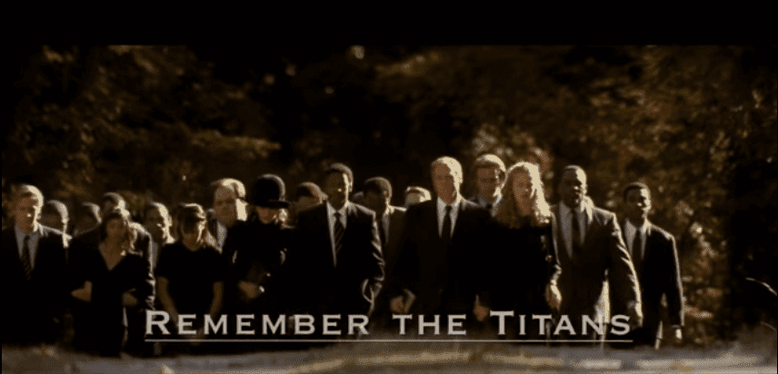 "The opening scene of ""Remember the Titans"" 