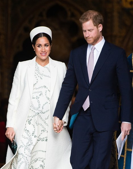 Prince Harry and Meghan at the Commonwealth Day service in London, England. | Photo: Getty Images.