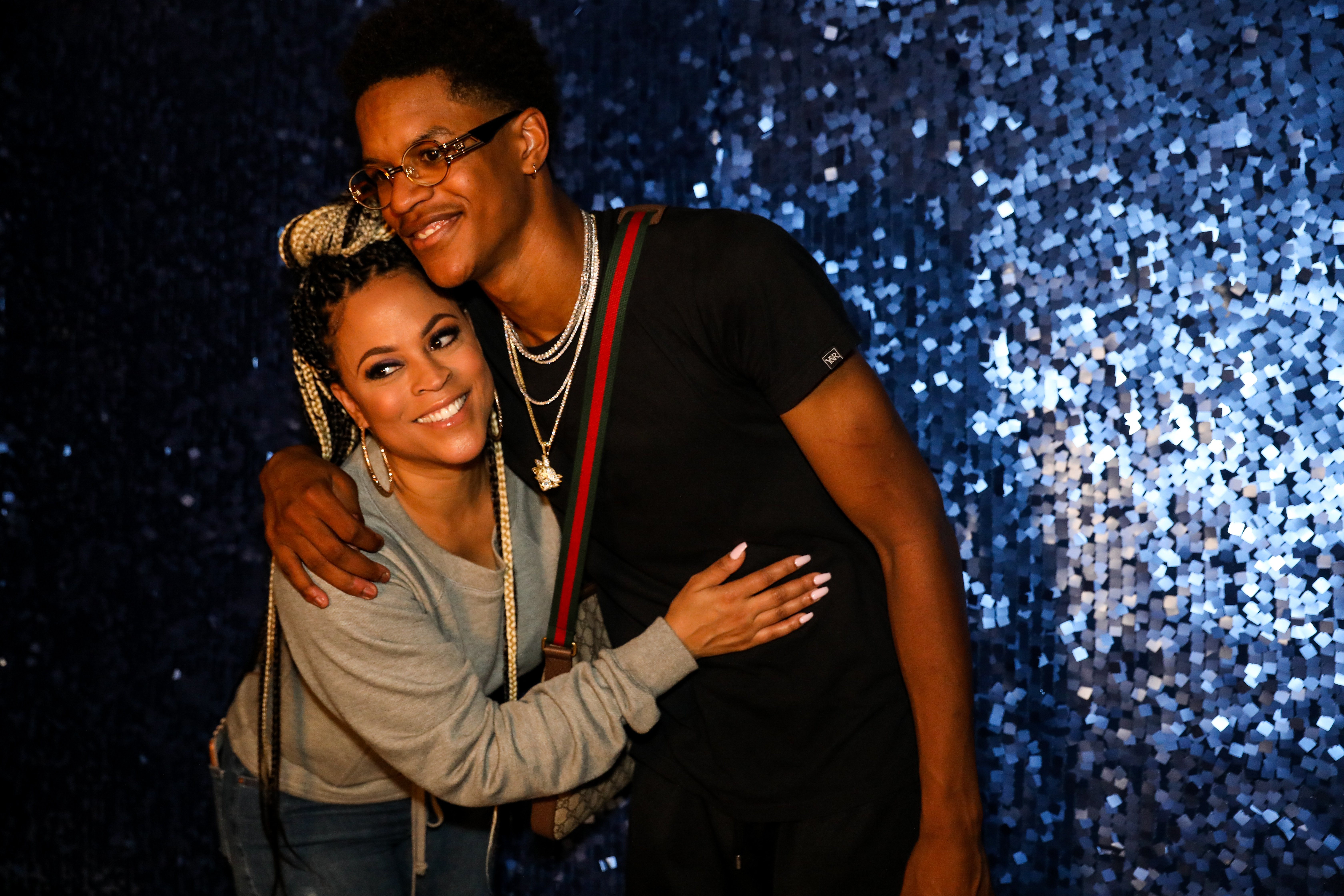 Shaunie O'Neal and Shareef O'Neal at his 18th birthday party, 2018 in California   Source: Getty Images
