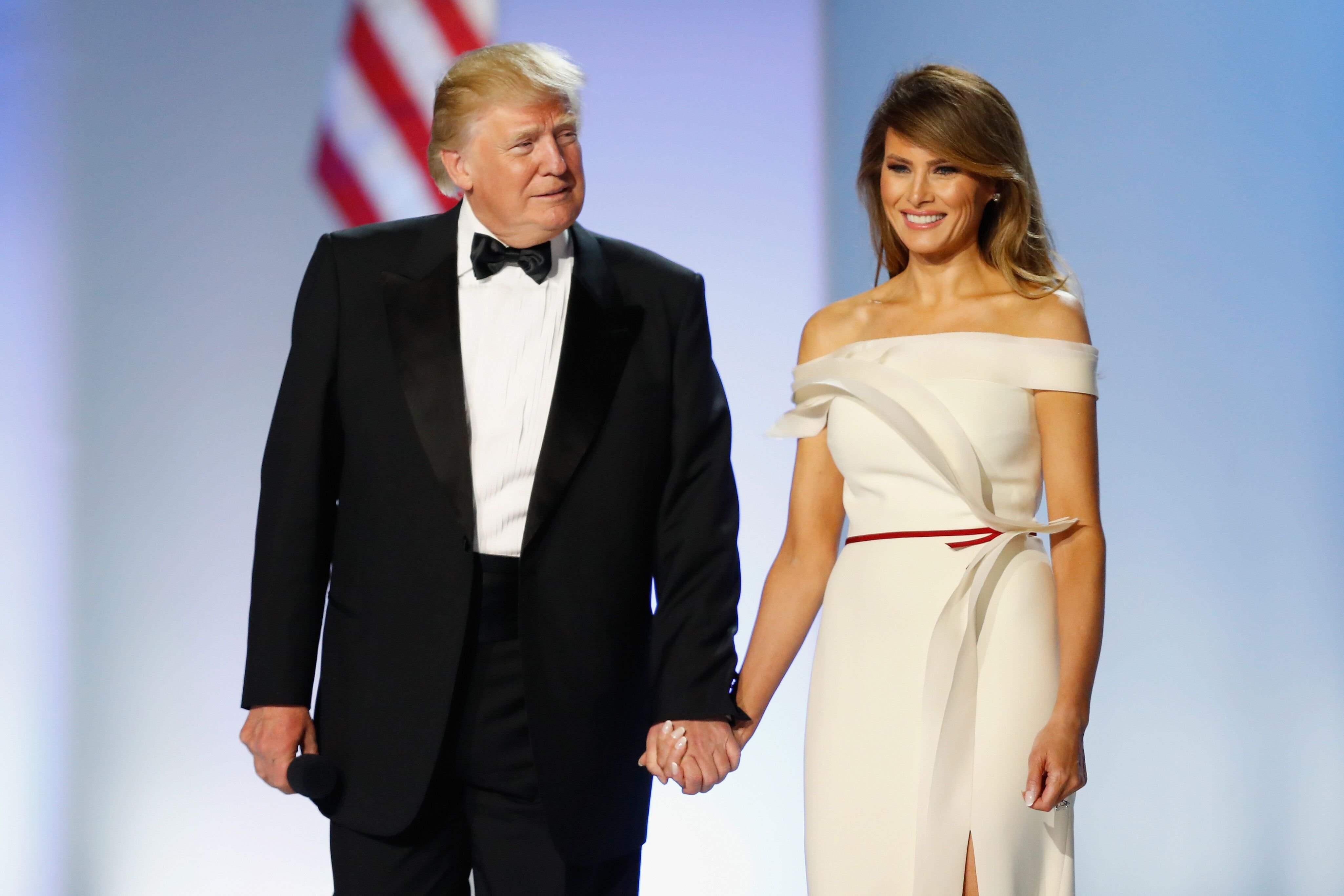 President Donald Trump and first lady Melania Trump at the Freedom Ball on January 20, 2017 in Washington, D.C. | Source: Getty Images