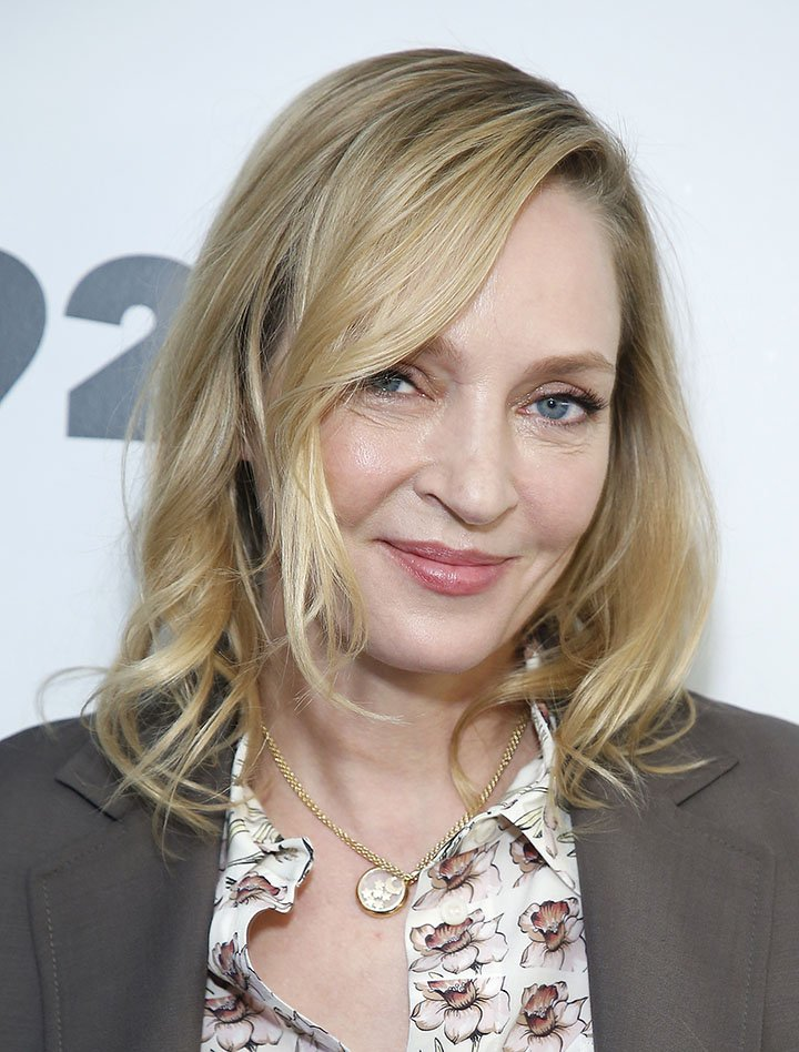 Uma Thurman at 92nd Street Y on April 11, 2019 in New York City. Image: Getty Images.