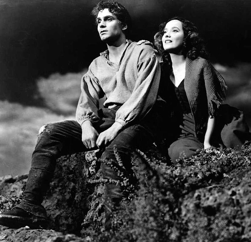 "Laurence Olivier and Merle Oberon in ""Wuthering Heights"" in 1939 